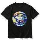 SPALDING ジュニアTシャツ ウォーターマーブルボール【SJT200620 BK×ML】