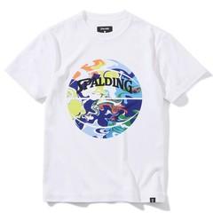 SPALDING ジュニアTシャツ ウォーターマーブルボール【SJT200620 WH×ML】