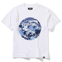 SPALDING ジュニアTシャツ ウォーターマーブルボール【SJT200620 WH×NV】