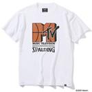 SPALDING MTV バスケットボール Tシャツ【SMT200010 WH】
