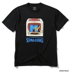 SPALDING Tシャツ MTV テレビジョン【SMT200050 BK】