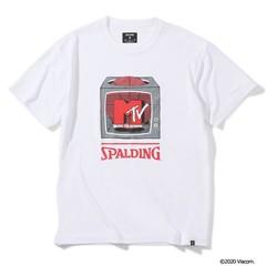 SPALDING Tシャツ MTV テレビジョン【SMT200050 WH】