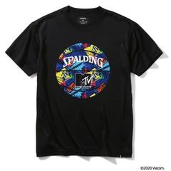 SPALDING Tシャツ MTV ギター【SMT200080 BK】