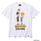 SPALDING Tシャツ ビーバスアンドバットヘッドバスケットボール【SMT200100 WH】