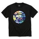 SPALDINGTシャツ ウォーターマーブルボール【SMT200200 BK×ML】