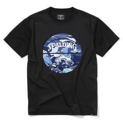 SPALDINGTシャツ ウォーターマーブルボール【SMT200200 BK×NV】