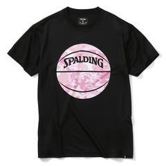 SPALDINGTシャツ ウォーターマーブルボール【SMT200200 BK×PNK】