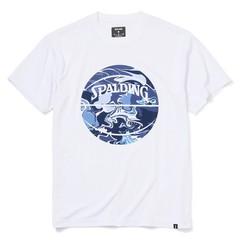 SPALDINGTシャツ ウォーターマーブルボール【SMT200200 WH×NV】