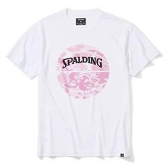 SPALDINGTシャツ ウォーターマーブルボール【SMT200200 WH×PNK】