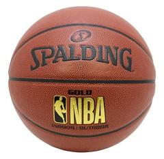 SPALDING ゴールド 合成皮革 5号球 NBAロゴ入り【76-504J】