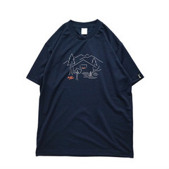 Mewship50 MEWSHIP BASE S/S PL(Navy×White×Orange)
