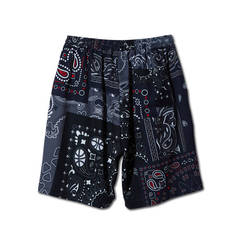 AKTR PATCHWORK BANDANA SHORTS BLACK
