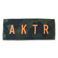 AKTR SPORTS TOWEL LOGO OLIVE【220-031021】