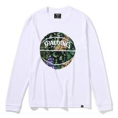 スポルディング ロングスリーブTシャツWH×KH【SMT201110】