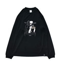 Mewship50 BUBBLE COFFEE L/S PL <Black×White×Beige>
