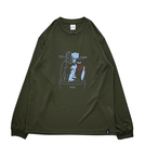 Mewship50 BUBBLE COFFEE L/S PL <J.Green×L.Blue×Burgundy>