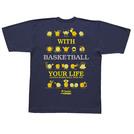チームファイブ Tシャツ「ウィズ・バスケットボール!」【AT-9101】