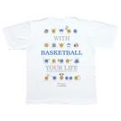 チームファイブ Tシャツ「ウィズ・バスケットボール!」【AT-9108】