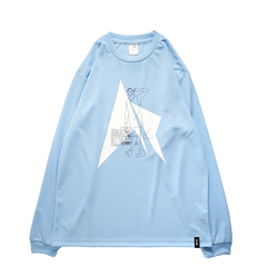Mewship50 HipHop Philly L/S PL <L.Blue×Black×White>