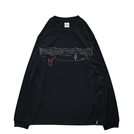 Mewship50 Lake of zone L/S PL <Black×White×Shrimp>