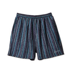AKTR TRIBE STRIPE SHORT WIDE PANTS BLACK