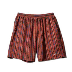 AKTR TRIBE STRIPE SHORT WIDE PANTS ORANGE