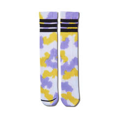 AKTR TIE DYE MONSTER SOCKS YELLOWxPURPLE