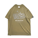 Mewship50 Vegetable friends S/S PL【Khaki×White×Coyote】