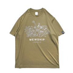 Mewship50 Vegetable friends S/S PL【Khaki×White×Coyote】