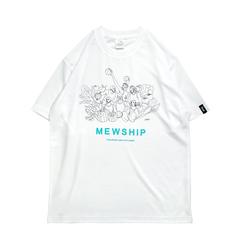 Mewship50 Vegetable friends S/S PL【White×Black×B.Green】