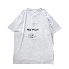 Mewship50 HipHop Philly S/S CT【Ash×Black】