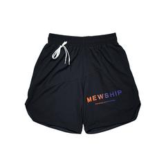 MEWSHIP split half pants <Black×Black×Orange×Purple>