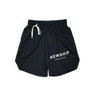 MEWSHIP split half pants<Black×Black×White>