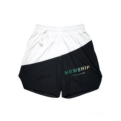 MEWSHIP split half pants<Black×White×Green×Beige>