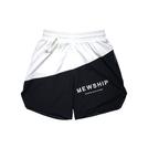 MEWSHIP split half pants<Black×White×White>