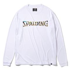 SPALDING ロングスリーブTシャツ ビーストロゴ ホワイト【 SMT211180】