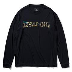SPALDING ロングスリーブTシャツ ビーストロゴ ブラック【 SMT211180】