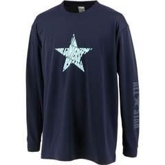コンバース 星柄プリントロングスリーブTシャツ【CB212358L 2900】