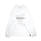 MEWSHIP HEEL L/S PL <White×Black×Brown>