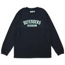 DEFENDERS LOGO L/S TEE BLACK