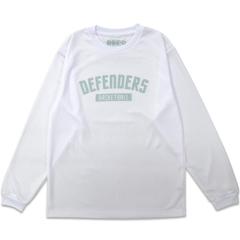 DEFENDERS LOGO L/S TEE WHITE