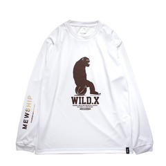 MEWSHIP WILD.X 21 L/S PL <White×Brown>