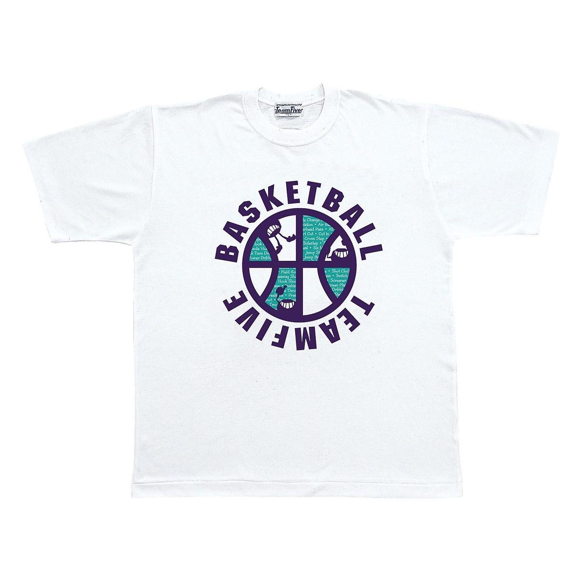 チームファイブ Tシャツ 「バスケットボール」【AT-9308】