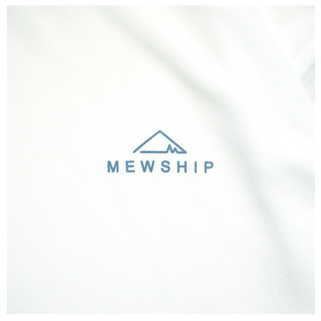 Mewship50 BASE LOGO S/S PL <White×D.Blue>