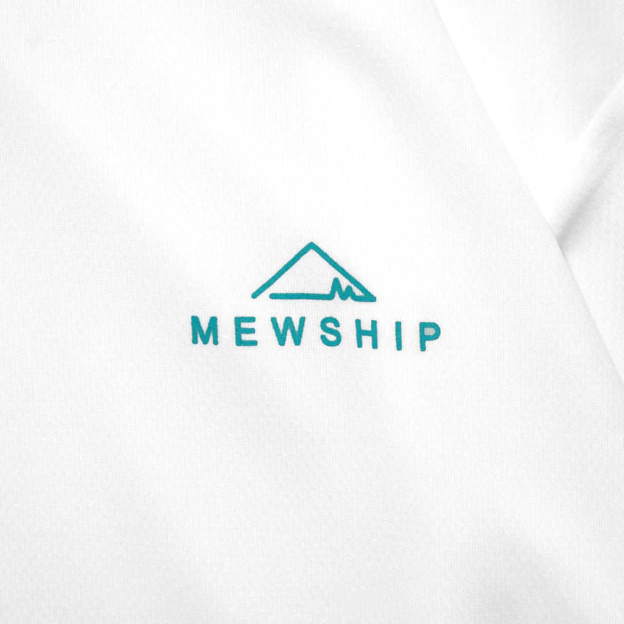 Mewhip50 BASE LOGO S/S PL <White×B.Green>