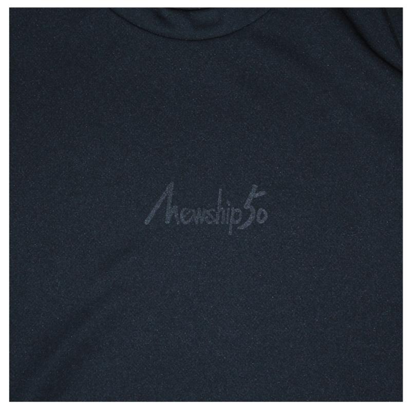 Mewship50【BASIC LOGO】L/S PL(BK×BK)
