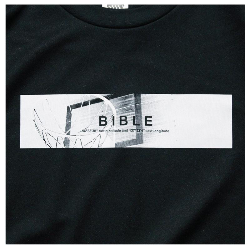 Mewship50【BIBLE】L/S PL(BK×WH)