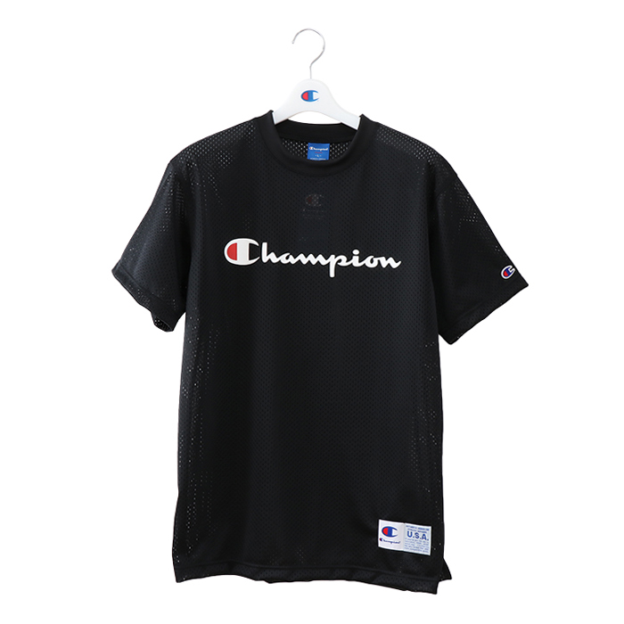 チャンピオン メッシュTシャツ【C3-MB354 090】