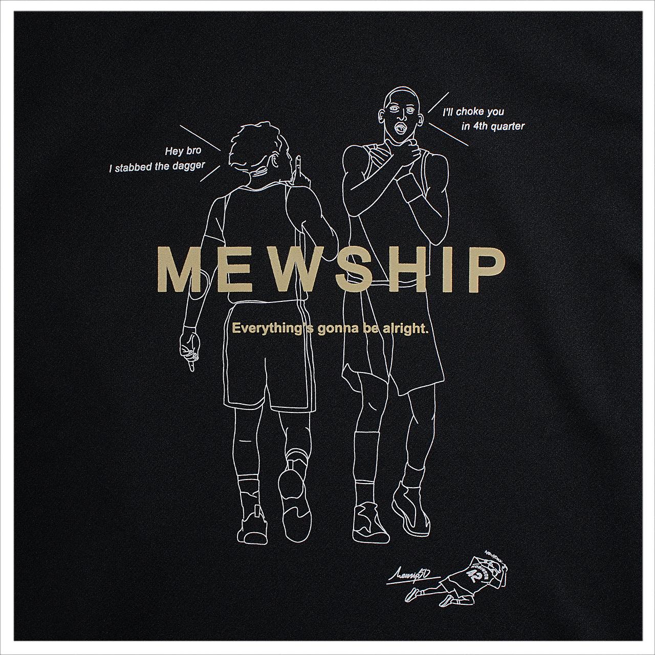 MEWSHIPHEEL L/S PL <Black×White×Beige>