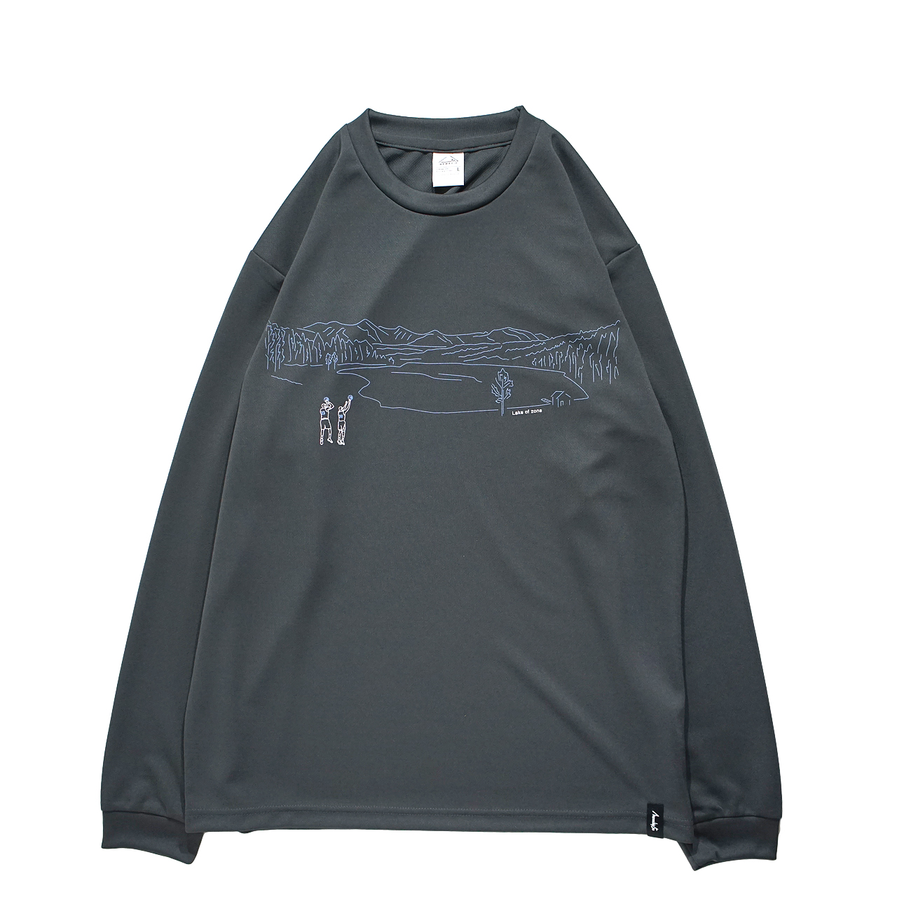 Mewship50 Lake of zone L/S PL <D.Gray×L.Blue×White>